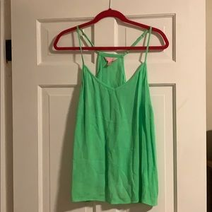 Lilly Pulitzer Lime Green Dusk Tank Top
